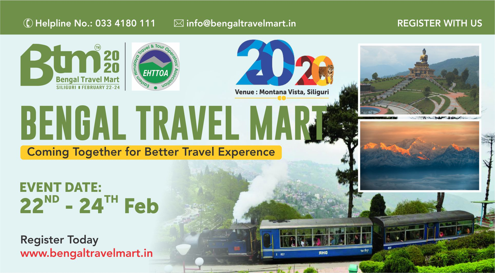 Bengal Travel Mart 2020- 22nd to 24th Feb 2020