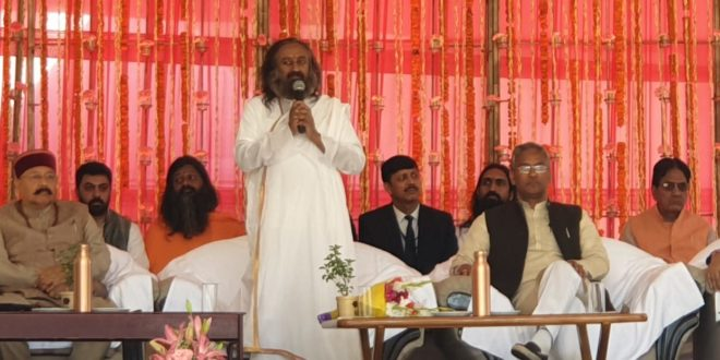 Day 2 Honorable CM Uttrakhand ,Tourism MINISTER and Yog Guru Sri Sri Ravishankar ji International Yog Fastival 1st-7th March At Ganga Resort